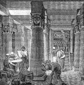LES SECRETS OUBLIÉS DE LA BIBLIOTHÈQUE D'ALEXANDRIE 330px-Ancientlibraryalex