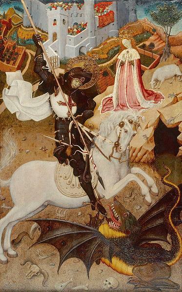 LA SYMBOLIQUE DU DRAGON DANS LES MYTHOLOGIES MONDIALES 373px-Martorell_-_Sant_Jordi