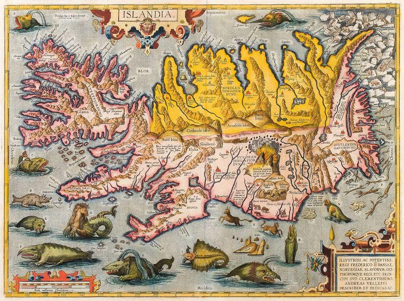 Abraham Ortelius-Islandia-ca 1590