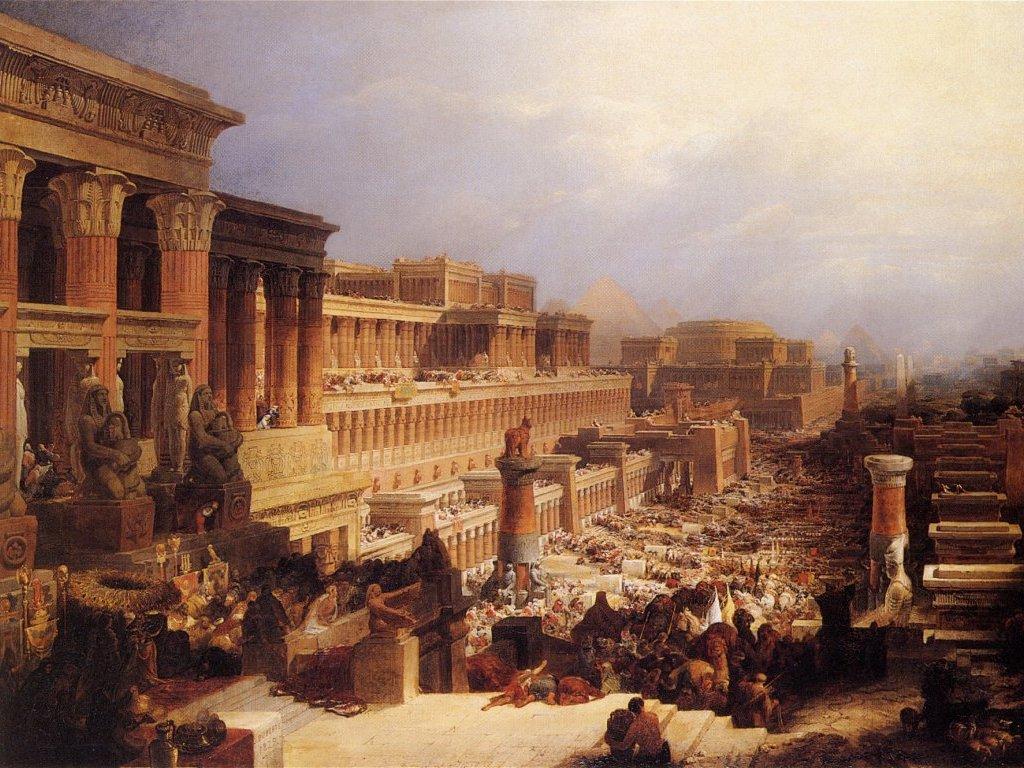 David Roberts-IsraelitesLeavingEgypt 1828