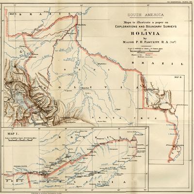 À la recherche de vestiges Atlantes sur l'Altiplano bolivien Carte-bolivie