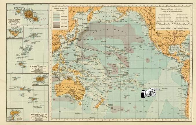 L'enseignement de l'île de Pâques Ile-de-paques-carte