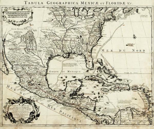 Les mystérieuses sept cités d'or et le mythe de Cíbola Mexique_floride_carte