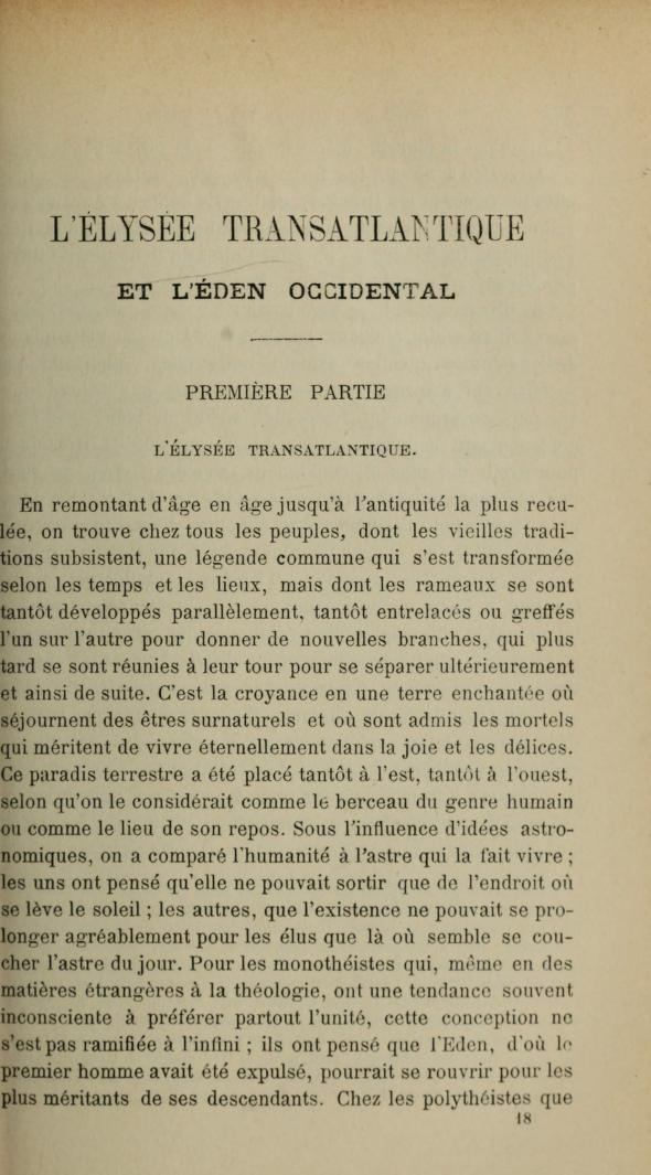L'Elysée transatlantique et I'Eden occidental, par E. Beauvois