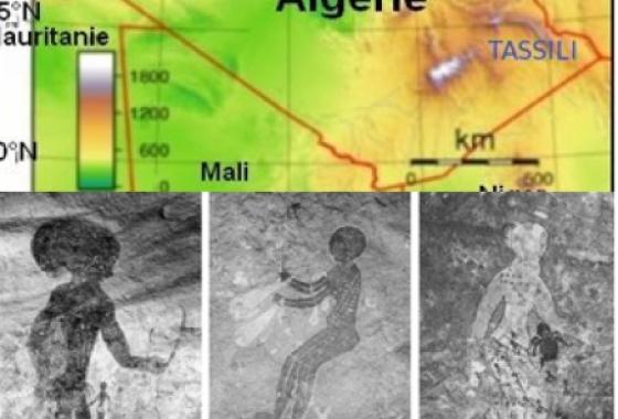 Les peintures rupestres du Tassili, dans le Sahara algérien